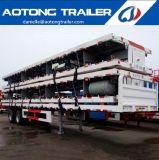 2 Essieu Aotong marque port terminal conteneur semi-remorque à plat
