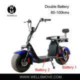 1000W 전기 뚱뚱한 바퀴 타이어 Harley Citycoco 두 배 건전지 모터 스쿠터