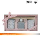 Set des 3 Spray-Glasdiffusers (zerstäuber) mit Metallkappe und des Farben-Kennsatzes für Hauptluft Freshening