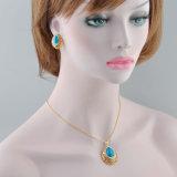 Señora vendedora caliente Alloy Turqoise Jewelry de las mujeres del oro de Dubai