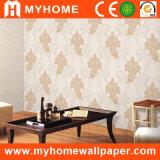 Papier peint épais profondément de relief de PVC pour la décoration intérieure