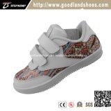 Le raie en cuir classique de chaussures occasionnelles d'espadrille chausse 16043-2