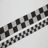 Poliéster de alta visibilidad Cinta de advertencia de tejido de material reflectante para la seguridad