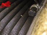 Corde noire non tournante 35X7 de fil d'acier