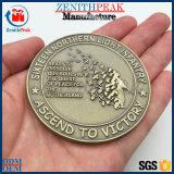 A vitória de Metal Ouro antigo personalizado 3D Coin de luta