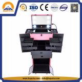 빛 (HB-5001)를 가진 직업적인 회전 메이크업 트롤리 상자