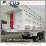 3 assen 50cbm de Tippende Aanhangwagen van de Vrachtwagen van de Kipper van de Aanhangwagen van de Stortplaats
