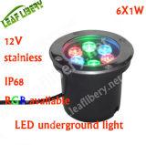 6W LED 옥외 아래 지상 빛, 6W LED 지하 가벼운 옥외 램프