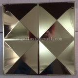 三次元装飾的なミラーによって浮彫りにされる4X8ステンレス鋼シート