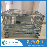 Revestimento de zinco Gabions galvanizado para armazenagem de carga com Rodas