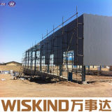 Material de construção estrutural do frame da construção clara Prefab do metal da oficina/armazém
