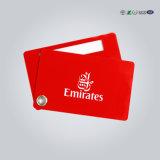 Kundenspezifische gummierte Belüftung-Gepäck-Marke