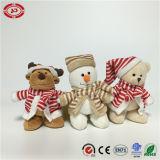 Noël Bonhomme de Neige de l'ours en peluche habillé d'Orignal Soft minuscule cadeau Jouet