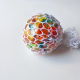 다채로운 응력 제거 공을 짜내는 메시 질퍽한 공 - 고무 환풍 포도 긴장 공 -