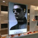 Торговый центр солнечные очки дисплей рекламы световые витрины