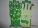 En pointillés Glove-Work Palm Glove-Cheap Glove-Safety Gant Gant-PVC