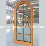 Janela personalizada Design Grelha simples com painel de vidro e madeira sólida