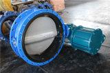 Pneumatisches betätigtes doppeltes geflanschtes Drosselventil mit Nylonplatte