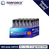 1.5V China Fertigung-Hochleistungsbatterie für Rauch Detetor (R03-AAA 24PCS)