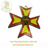 卸し売りカスタム円形浮彫りのタイルのギフトの鉄の十字の金属はメダルを作った