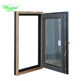 Ventana del metal de la ventana y de la puerta de madera del color del grano del perfil de Alu