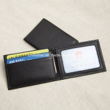 MenのためのハイエンドDesigner Short Calf Leather Billfold Wallet