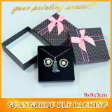 Горячая коробка ювелирных изделий бумаги картона черноты сбывания (BLF-GB002)