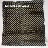 tessuto della fibra del carbonio del tessuto normale di 12K 420g
