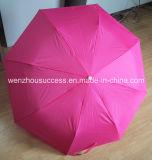 Double Layer Fabric를 가진 선전용 Umbrella는 Umbrella를 관례 만들었다
