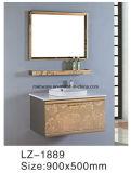 Piccolo Governo di stanza da bagno dell'acciaio inossidabile di stile con il Governo dello specchio