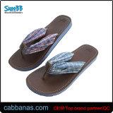 Cloth Flip Flops avec semelle PU pour dames
