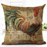 Ammortizzatore decorativo dei cuscini della federa di tela del cotone stampato rubinetto variopinto dell'annata