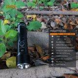 Zoomable, USB Rechargeable, lampe de poche de tête de fusée, multitâche en haute Lumens 800LM 1312 pieds de distance de faisceau pour la chasse, camping, conduite de nuit