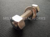 Boulon à tête hexagonale en acier inoxydable DIN 933 avec écrou hexagonal de la rondelle DIN DIN 934 125