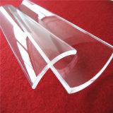 Demi de glace ronde transparente de polissage extérieure de quartz