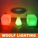 De LEIDENE Stoel van de Kubus met Batterij & 16 RGB Lichte Kleuren