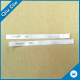 las escrituras de la etiqueta tejidas tela de la talla 100%Polyester utilizaron la ropa
