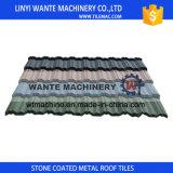 Galvanisé couvrant la feuille, tuile de toit enduite en métal de pierre colorée