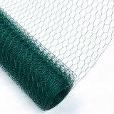 Frontière de sécurité de fil enduite de poulet de PVC de vert d'approvisionnement de la Chine