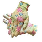 13G женщин полиэстер PU сад перчатки