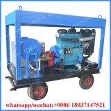 500 bar agua alta presión eléctrica máquina de chorro de arena de la oxidación de la capa de óxido de eliminación de pintura de la máquina de limpieza