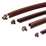 De silicone flexível perfis extrudados de juntas de borracha faixa para porta de madeira