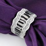 La meilleure bague plaquée par modèle attrayant noir de vente de bijou plus défunt
