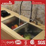 Bassin de cuisine, bassin d'acier inoxydable, bassin fabriqué à la main, bassin, bassin d'Undermount, bassin de Topmount, bassin fabriqué à la main d'acier inoxydable