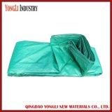 Encerado poli impermeável durável do verde 4mx6m para o caminhão