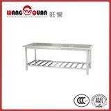 開いた格子棚が付いているステンレス鋼のワークテーブル
