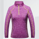 Deporte largo de la gimnasia de las camisas de deporte de la funda que entrena a la camiseta seca del ajuste