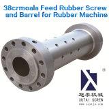 38crmoala husillo y cilindro de goma de alimentación de la máquina para caucho