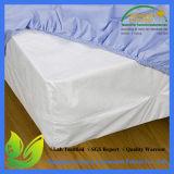 Protector ajustado libre del colchón del estilo de la hoja del hotel del ftalato silencioso orgánico al por mayor del algodón