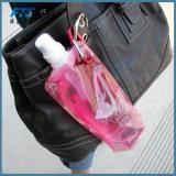 Plastique portatif environnemental buvant la bouteille d'eau pliable vide